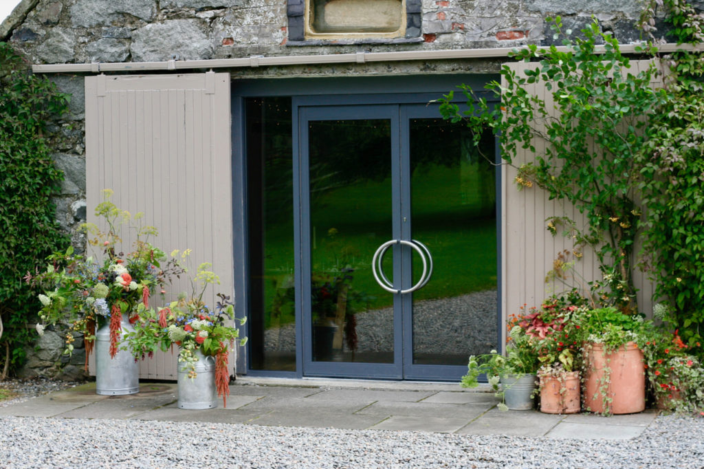 Mayfield Flowers Byre Entrance autumn natural wedding