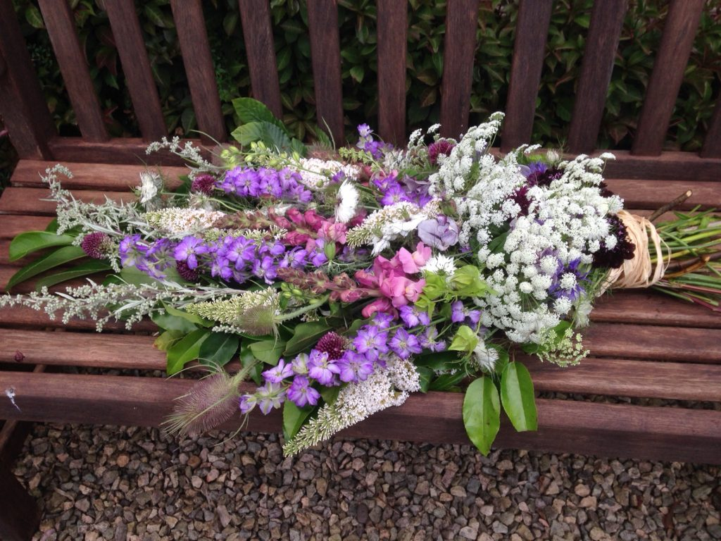 Funeral sheaf Mayfield Flowers Summer