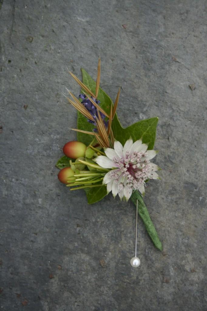 July Scottish Wedding flowers butonhole