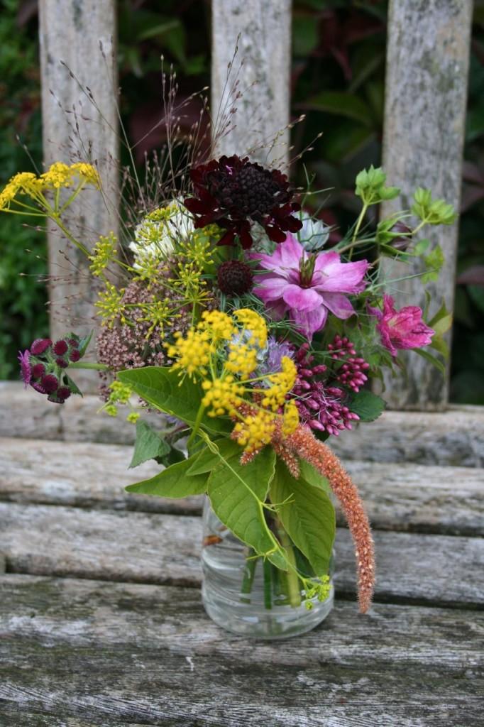 jam jar subscription September Scottish Grown flowers