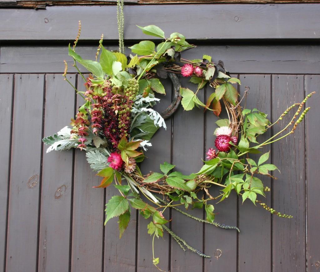 natural autumn wreath