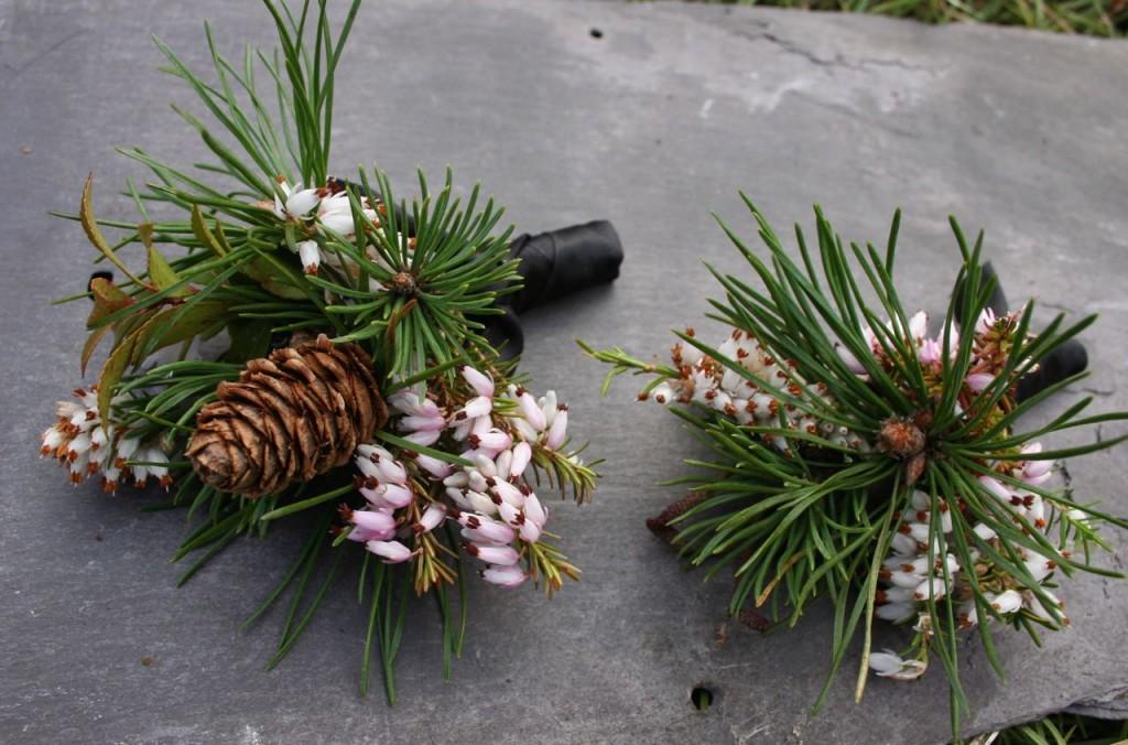 natural scottish wedding buttonholes