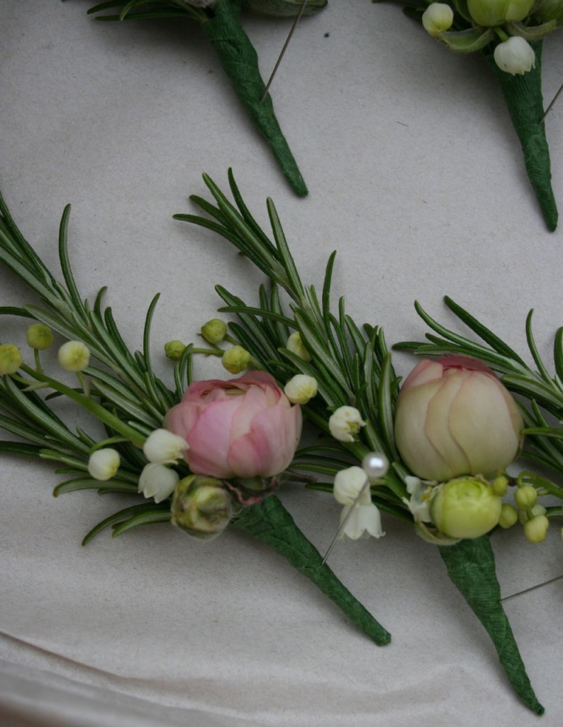 last of the ranunculus and first of the lily of the valley