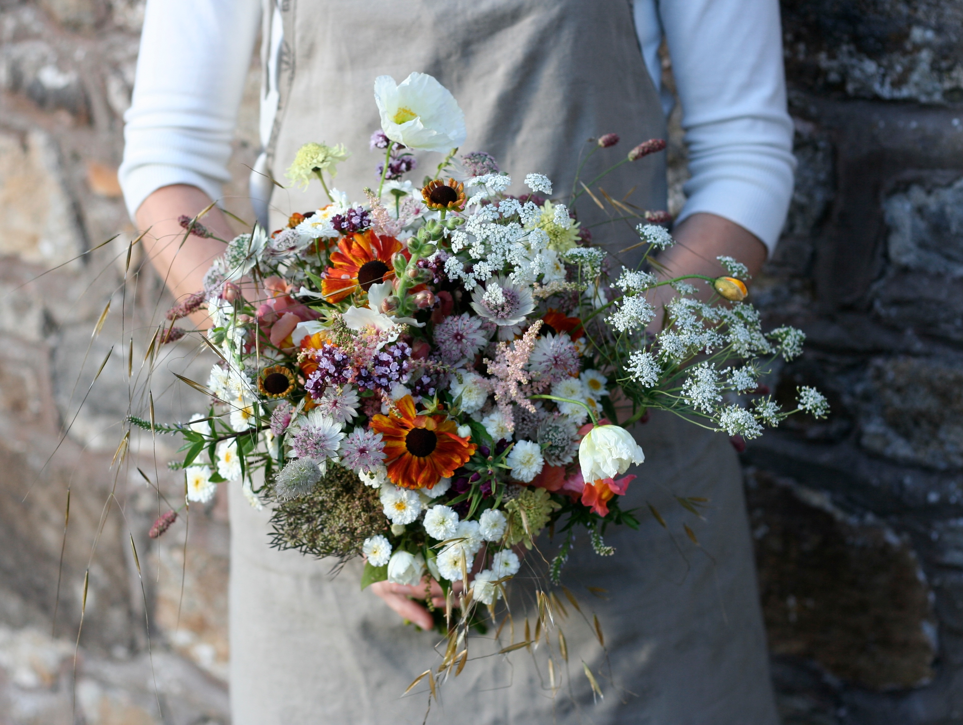 Natural Scottish wedding flowers - brides bouquet
