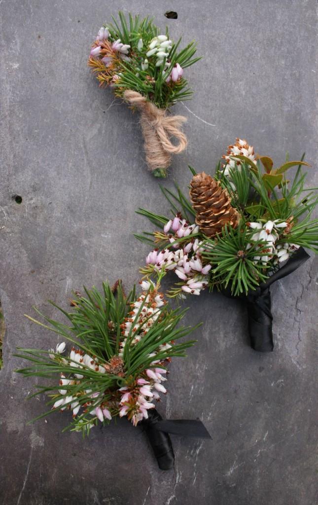 wild scottish wedding flowers