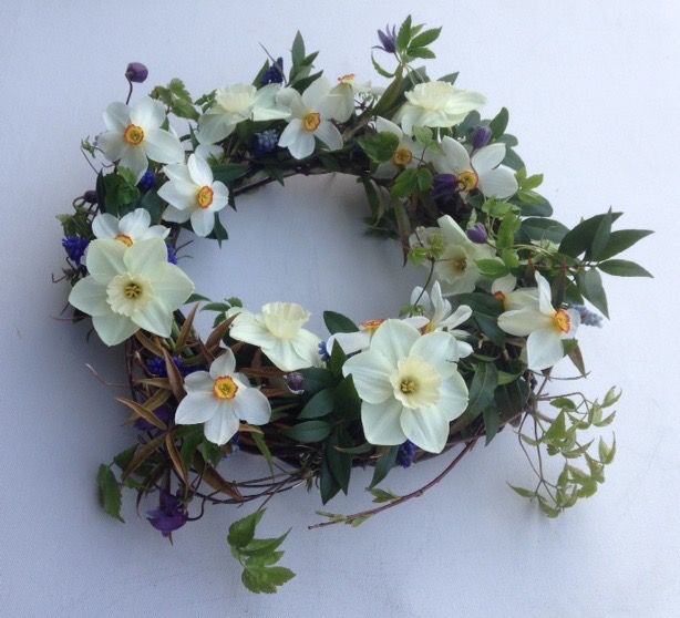 willow funeral wreath Mayfield Flowers Spring
